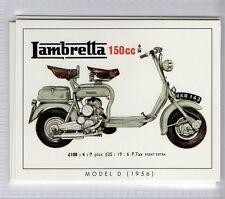 #3 Lambretta Model D (1956) scooter card