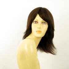 Perruque femme 100% cheveux naturel châtain ref ROSALIE 6