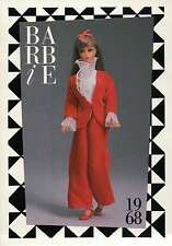"Barbie Collectible Fashion Card "" Velvet Teens Sears Special "" Red Shoes 1968"