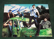 THE JANOSKIANS signed 8X10 PHOTO (B) - PROOF - Luke Brooks, James, Daniel COA
