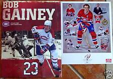 Bob Gainey # 23 retiring banner night PROGRAM & LITO Montreal Canadiens souvenir