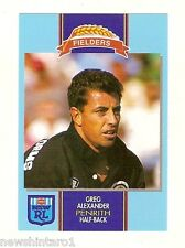 1993 FIELDERS RUGBY LEAGUE CARD - GREG ALEXANDER, PENRITH PANTHERS