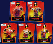 New THE INCREDIBLES KEYCHAINS Entire Family MR Mrs DASH Violet JACK-JACK Pixar