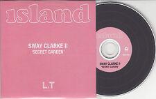 SWAY CLARKE II Secret Garden 2014 UK 1-track promo CD + press release