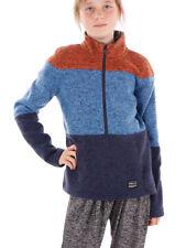 O'Neill Fleece Pullover Function Sweater Button Up Blau Collar Warm