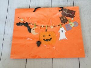 Papyrus Gift Bag Halloween GHOST Bat Spider BOO Owl