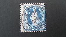 Switzerland 1882 50 cent blue SG 150B good/fine used c £25.