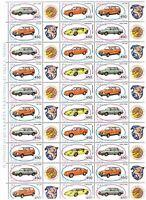 S17867) Italy 1985 MNH New Automotive II 4v Full Sheet Folded