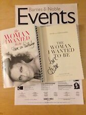 """DIANE VON FURSTENBERG  SIGNED BOOK  """"THE WOMAN I WANTED TO BE""""  NEW HARDCOVER"""