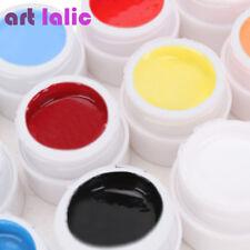 12Pcs Solid Color Mix Pure Nail Art UV Builder Gel Set for Acrylic Tips Artlalic