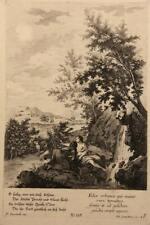 F.ZUCCARELLI (*1702), Romantische Landschaft, Mädchen am Fluss, KSt.