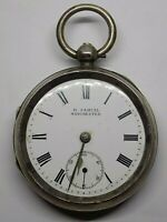 1902 H. SAMUEL SILVER POCKET WATCH. FOR REPAIRS. ENGLISH CHESTER STERLING (NCB)