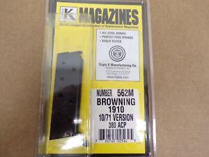 Browning Model 1910 10/71 Version 380 ACP Magazine by Triple K #562M