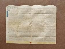 1725 Edingall Staffordshire Georgian Vellum Deed Indenture and paper Document