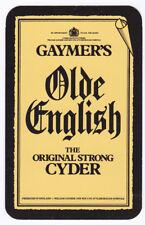 Gaymers Old English Cyder Single swap Playing Card