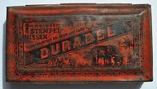 1890s Germany German DURABEL Early Ink Stamp Pillow Rare Tin Box