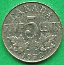 Lot D272 Canada 1932 5 Cents Nickel King George V  Canadian Coin