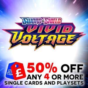 POKEMON SWORD & SHIELD VIVID VOLTAGE SINGLE + TRAINER CARDS + PLAYSETS - SWSH4