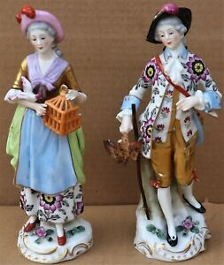 PAIR OF QUALITY LOOKING PORCELAIN FIGURES OF MAN & WOMAN TO RESTORE OR DISPLAY
