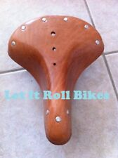 Vintage Classic Bicycle Seat Leather Brown Bikes