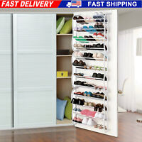 Over The Door Shoe Rack 36 Pair Wall Hanging Closet Organizer Space Saver