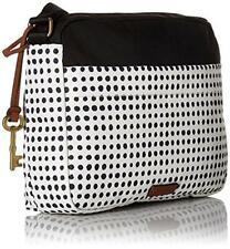 Fossil Bailey E/W Crossbody Bag Polka Dot Black&White Shoulder Bag new