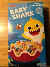 Limited Edition Kellogg's Baby Shark Berry Fin-Tastic with Marshmallows Cereal