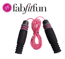 JUMP ROPE by FabFitFun & CosmoBody. Pink & Black. Portable. Workout. NEW.
