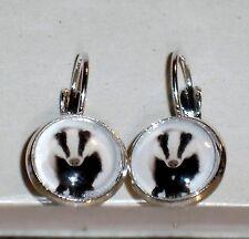 Ohrringe Dachs Tiere Damen Ohrschmuck Modeschmuck Glas Cabochon Hänger Leverback