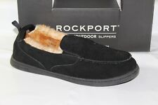 ROCKPORT SUEDE MOCCASIN MEN'S SLIPPERS, BLACK, 25635
