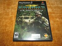 SOCOM 3 US Navy Seals (Sony PlayStation 2) PS2 Complete Free Shipping