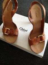 Beautiful BNIB Chloe Heels In Tan Saddle UK 4.5 / EU 37.5