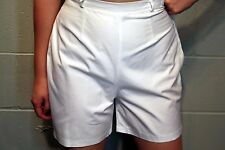 S White 100% Cotton Nos Vtg 50s 60s Side Metal Zipper Jamaica Rockabilly Shorts