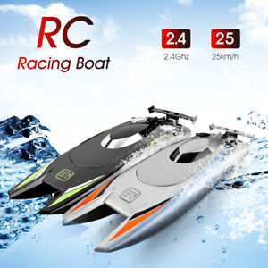 RC Boats for Kids Adult 25KM/H High Speed Racing Boat 2 Channels Remote Control