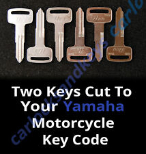 1983-1993 Yamaha Venture Royale Motorcycle Keys Cut By Code - 2 Working Keys