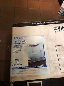 Glass Vessel Sink Bowl Decolav Miami 1597T-WH White New in box