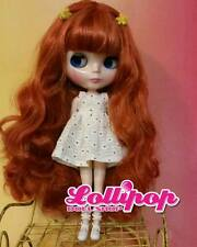 Factory Type Neo Blythe Orange Red Hair - with Outfit OR Stand