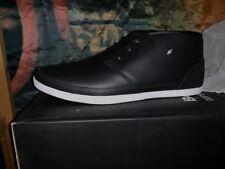 Neu Boxfresh Milford TRH Leather Gr:42 US:9 schwarz black Sneaker Leder E-14070
