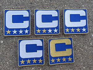 ROYAL BLUE Captain C Patch for Jersey Football Hockey Soccer Baseball Lacrosse