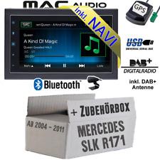 Autoradio für Mercedes SLK R171 DAB NAVIGATION USB Bluetooth DAB+ Navi Einbauset