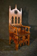 "Gothic Throne Chair for Tonner BJD Dolls 16"" 1/4 wood furniture OOAK V31"