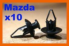10 Mazda plastic fasteners screw mud flaps splash guard panel wheel arch panels