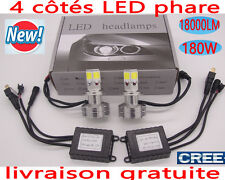 180W 18000LM CREE LED Phare Ampule Feux Voiture Lampe H4 H7 H11 H1  Blanc 6000K