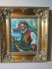 Rare Oil on Canvas Painting of Man by Remo Capone 20th Century