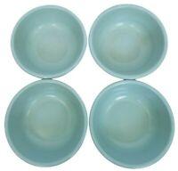 4 Vintage Rubbermaid Melamine Cereal Bowls Light Aqua Blue Green Model 3836