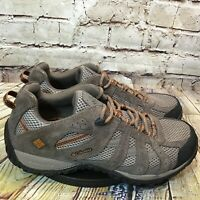 Columbia Redmond Mens Brown Leather Mesh Low Hiking Shoes Size 10