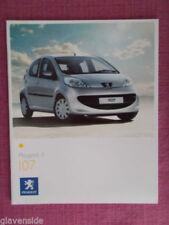 Peugeot 107 2007 Car Sales Brochures