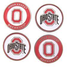 Ohio State Buckeyes Osu Golf Ball Markers (Set of 4) Double Sided