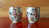 Set Of 2 Beautiful Japanese Sake Cups-Ochoko-Hand Painted