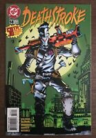 Deathstroke #58 first printing DC comic book  Classic Joker Cover
